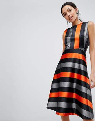 Traffic People Midi Stripe Dress