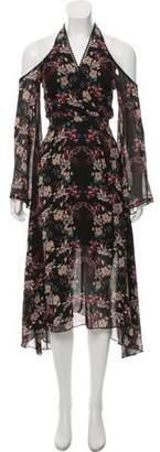 Nicholas Cold-Shoulder Printed Dress