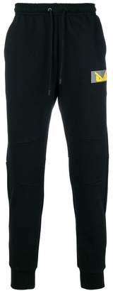 Fendi logo patch track trousers