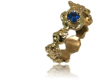 Karolina Bik Jewellery Out Of The Sea Ring In 14K Gold & Saphire