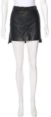 Neil Barrett Mini Leather Skirt