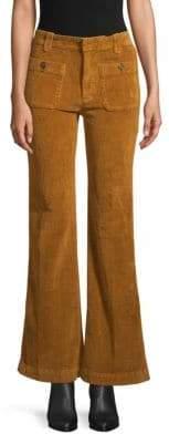 Free People Wide-Leg Flared Corduroy Pants