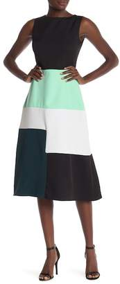 ANETTE Colorblock Sleeveless Dress (Plus Size Available)
