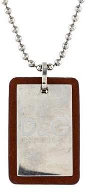 Dolce & Gabbana Dog Tag Pendant Necklace
