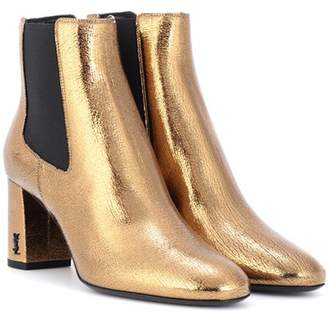 Saint Laurent Loulou 70 leather ankle boots
