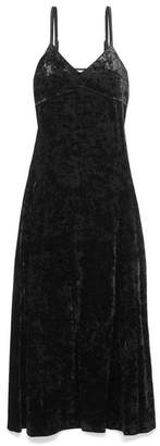 MICHAEL Michael Kors Crushed-velvet Maxi Dress - Black