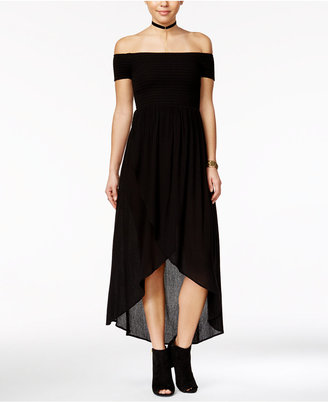 American Rag Off-The-Shoulder Tulip-Front Maxi Dress, Only at Macy's $69.50 thestylecure.com