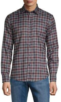 Saks Fifth Avenue BLACK Checked Button-Down Shirt