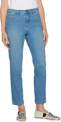 Denim & Co. Studio by Petite Classic Denim Ankle Jeans