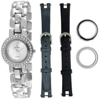 Peugeot Women's 669 Interchangeable Bezel and Band Gift Watch Set