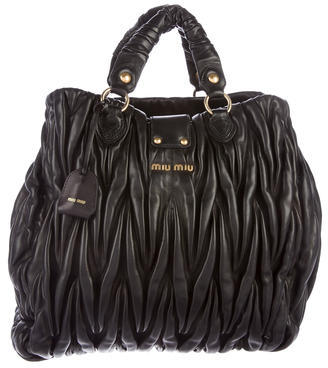 Miu Miu Miu Miu Matelassé Leather Handle Bag