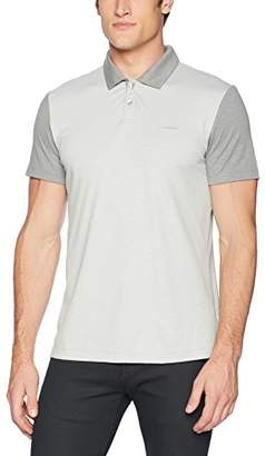 Calvin Klein Men's Short Sleeve Color Block Polo Shirt