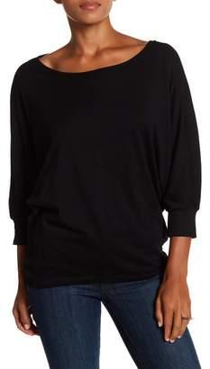 H By Bordeaux 3/4 Length Sleeve Dolman Sweater