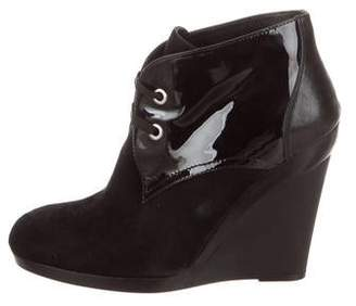 Hogan Suede Wedge Booties