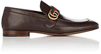 Gucci Men's Donnie Leather Loafers - Brown