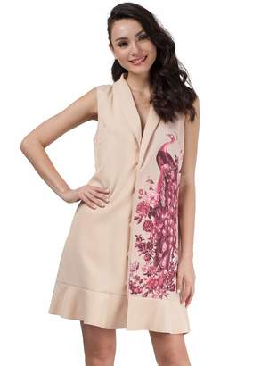 Plains and Prints Womens Rubellite Sleeveless Dress