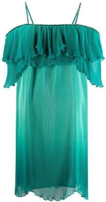 Just Cavalli frill trim plisse dress