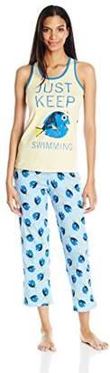 Disney Women's Finding Dory 2-Piece Cotton Jersey Pajama Set
