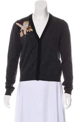 Diane von Furstenberg Wool & Cashmere Embellished Cardigan