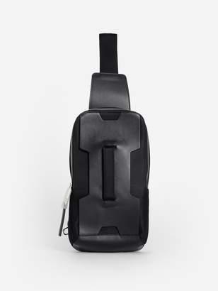 BLACK HANDLE CROSSBODY BAG