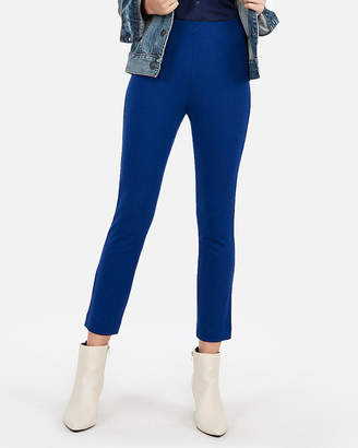 Express High Waisted Ponte Knit Cropped Skinny Pant