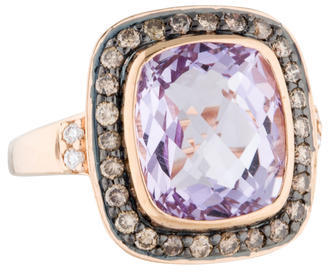 Le Vian Amethyst and Diamond Halo Cocktail Ring w/ Tags $645 thestylecure.com