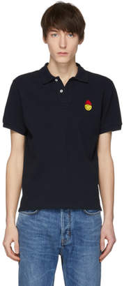 Ami Alexandre Mattiussi Navy Limited Edition Smiley Edition Pique Polo