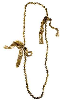 Lanvin Wrapped Bead Necklace