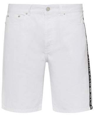 Givenchy Logo Taped Denim Shorts - Mens - White
