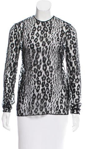 Tom Ford Long Sleeve Lace Top