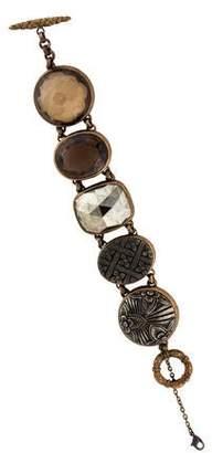 Stephen Dweck Mother of Pearl, Smoky Quartz & Pyrite Bracelet