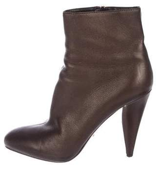 Prada Iridescent Leather Booties