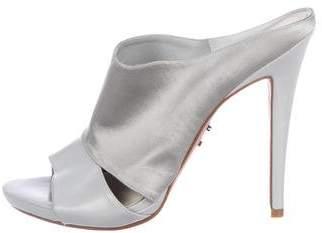 Herve Leger Satin Slide Sandals