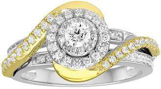 MODERN BRIDE I Said Yes 5/8 CT. T.W. Diamond 10K Two-Tone Engagement Ring