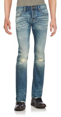 Cult Of Individuality Rebel Straight-Leg Cotton Jeans