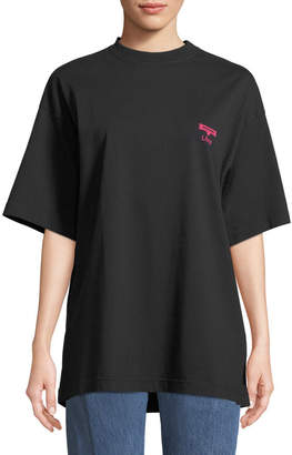 Vetements Horoscope Crewneck Short-Sleeve Cotton Tee