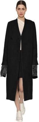 Rick Owens Oversized Wool Blend Felt Coat