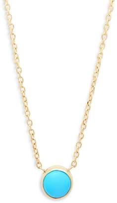 Anzie Women's Classique 14K Gold & Turquoise Pendant Necklace