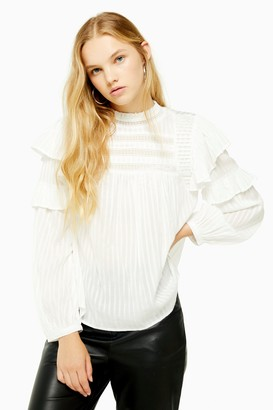 Topshop Prairie High Neck Top