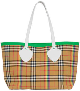 Burberry Medium Giant Vintage Check Tote Bag