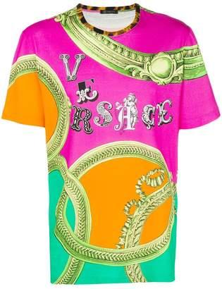 Versace flamboyant print T-shirt