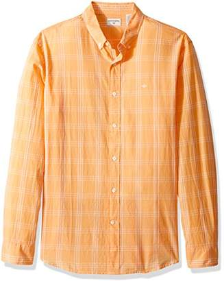 Dockers Beached Poplin Long Sleeve Button-Front Shirt