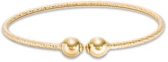 "Zales Made in Italy Diamond-Cut Ball Cuff in 14K Gold - 7.5"""