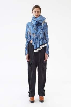 3.1 Phillip Lim Floral Chain-Accented Scarf