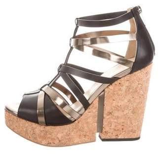 Jimmy Choo Peekaboo Wedge Sandals