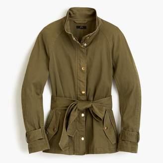 J.Crew Tie-waist cotton jacket
