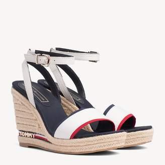8edd6be466e9 Tommy Hilfiger Wedge Heel Signature Tape Sandals