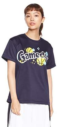 Converse (コンバース) - [コンバース] バスケットボールウェア 機能プリントTシャツ CB382301 [レディース] ネイビー 日本 L (日本サイズL相当)