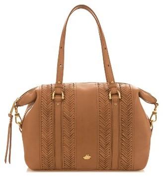 Brahmin Southcoast Delaney Leather Satchel - Brown $425 thestylecure.com