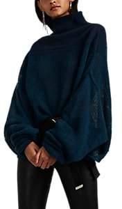 Taverniti So Ben Unravel Project Women's Mixed-Knit Oversized Wool-Blend Sweater - Blue